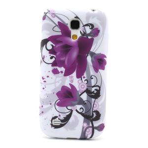 Gelové pouzdro pro Samsung Galaxy S4 mini i9190- fialové květy - 2