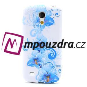 Gelové pouzdro pro Samsung Galaxy S4 mini i9190- modrá lilie - 2