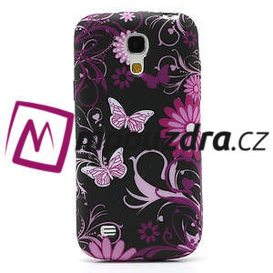 Gelové pouzdro pro Samsung Galaxy S4 mini i9190- květina-motýl - 2