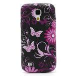 Gelové pouzdro pro Samsung Galaxy S4 mini i9190- květina-motýl - 2/5