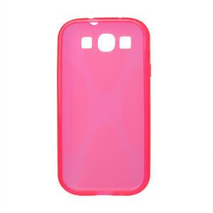 Gelové pouzdro pro Samsung Galaxy S3 i9300 - X-line růžové - 2