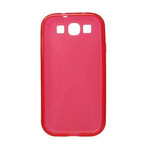 Gelové pouzdro pro Samsung Galaxy S3 i9300 - X-line červené - 2