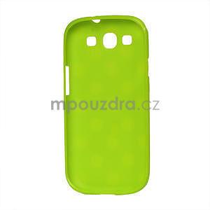 Puntíkové pouzdro pro Samsung Galaxy S3I i9300 - zelené - 2