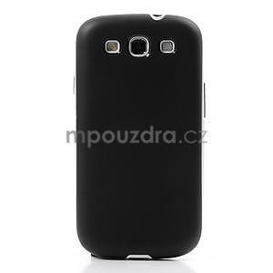 Gelové rámované pouzdro na Samsung Galaxy S3 i9300- černé - 2