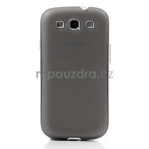Gelové rámované pouzdro na Samsung Galaxy S3 i9300- šedé - 2