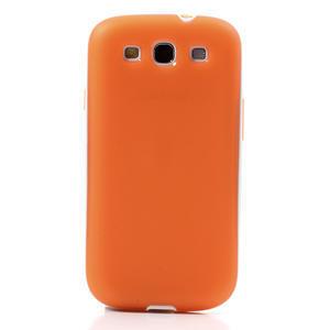 Gelové rámované pouzdro na Samsung Galaxy S3 i9300- oranžové - 2