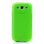 Gelové rámované pouzdro na Samsung Galaxy S3 i9300- zelené - 2/6
