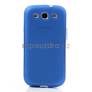 Gelové rámované pouzdro na Samsung Galaxy S3 i9300- modré - 2