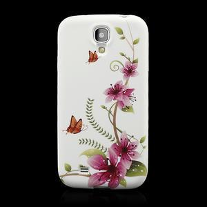 Gelové pouzdro pro Samsung Galaxy S4 i9500- kvetoucí květ - 2