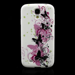 Gelové pouzdro pro Samsung Galaxy S4 i9500- vlající motýl - 2