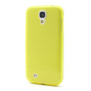 Gelové slim pouzdro na Samsung Galaxy S4 i9500- žluté - 2