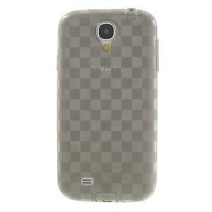 Gelové kosočvercové pouzdro na Samsung Galaxy S4 i9500- šedé - 2