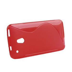 Gelové S-line pouzdro pro HTC one Mini M4- červené - 2