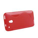 Gelové S-line pouzdro pro HTC one Mini M4- červené - 2/5