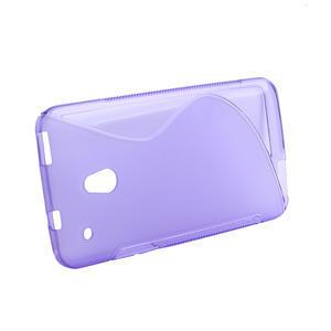 Gelové S-line pouzdro pro HTC one Mini M4-fialové - 2