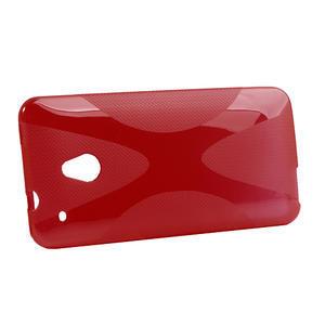 Gelové X-line pouzdro pro HTC one Mini M4- červené - 2