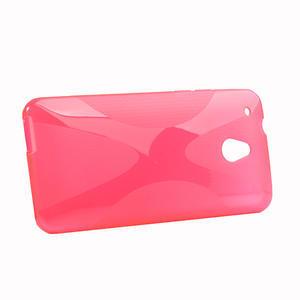 Gelové X-line pouzdro pro HTC one Mini M4- růžové - 2