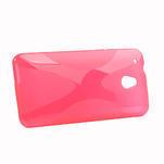 Gelové X-line pouzdro pro HTC one Mini M4- růžové - 2/4