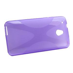Gelové X-line pouzdro pro HTC one Mini M4- fialové - 2