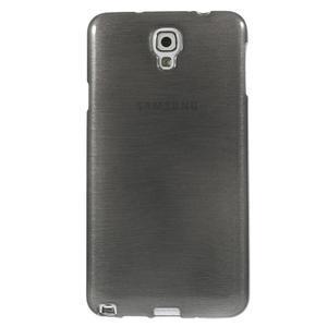 Gelové kartáčované pouzdro na Samsung Galaxy Note 3 Neo - černé - 2