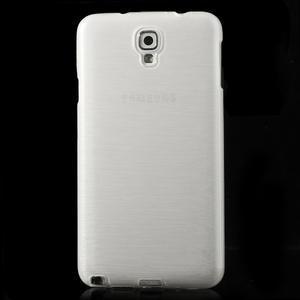 Gelové kartáčované pouzdro na Samsung Galaxy Note 3 Neo - bílé - 2