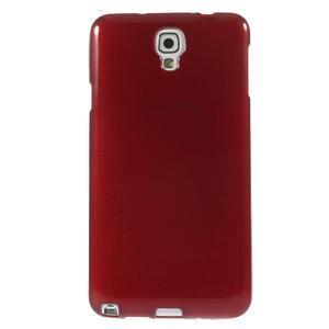 Gelové kartáčované pouzdro na Samsung Galaxy Note 3 Neo - červené - 2