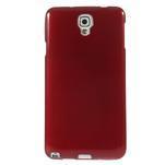 Gelové kartáčované pouzdro na Samsung Galaxy Note 3 Neo - červené - 2/3
