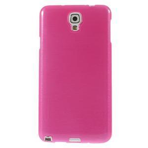 Gelové kartáčované pouzdro na Samsung Galaxy Note 3 Neo - růžové - 2