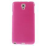 Gelové kartáčované pouzdro na Samsung Galaxy Note 3 Neo - růžové - 2/5