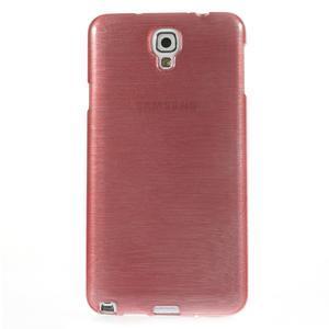 Gelové kartáčované pouzdro na Samsung Galaxy Note 3 Neo - světlerůžové - 2