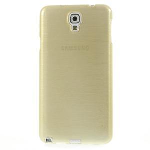 Gelové kartáčované pouzdro na Samsung Galaxy Note 3 Neo - zlaté - 2