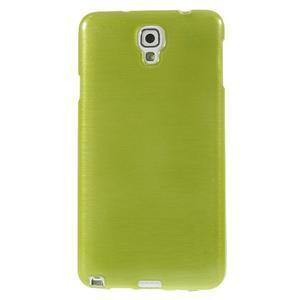 Gelové kartáčované pouzdro na Samsung Galaxy Note 3 Neo - zelené - 2