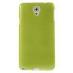 Gelové kartáčované pouzdro na Samsung Galaxy Note 3 Neo - zelené - 2/5
