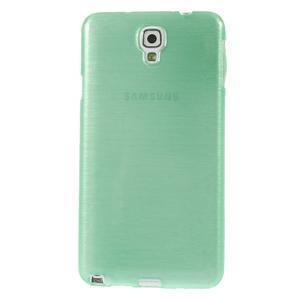 Gelové kartáčované pouzdro na Samsung Galaxy Note 3 Neo - cyan - 2
