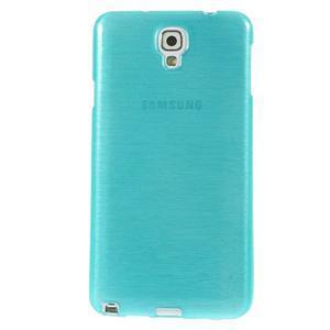 Gelové kartáčované pouzdro na Samsung Galaxy Note 3 Neo - modré - 2
