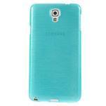 Gelové kartáčované pouzdro na Samsung Galaxy Note 3 Neo - modré - 2/5
