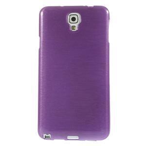 Gelové kartáčované pouzdro na Samsung Galaxy Note 3 Neo - fialové - 2