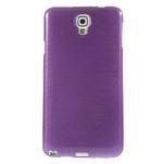 Gelové kartáčované pouzdro na Samsung Galaxy Note 3 Neo - fialové - 2/5