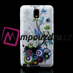 Gelové pouzdro na Samsung Galaxy Note 3- květiny - 2