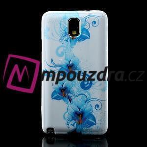Gelové pouzdro na Samsung Galaxy Note 3- modrá lilie - 2
