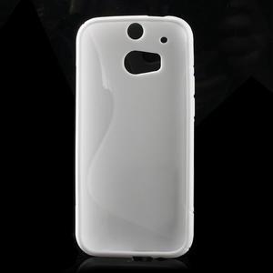 Gelové S-line pouzdro pro HTC one M8- bílé - 2