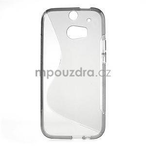 Gelové S-line pouzdro pro HTC one M8- šedé - 2