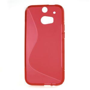 Gelové S-line pouzdro pro HTC one M8- červené - 2