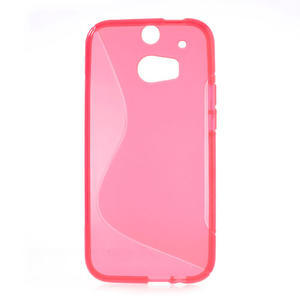 Gelové S-line pouzdro pro HTC one M8- růžové - 2