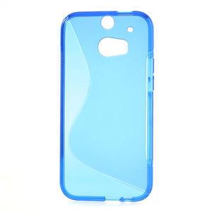 Gelové S-line pouzdro pro HTC one M8- modré - 2