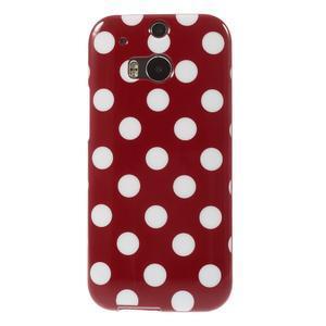 Gelové-PUNTÍKY pouzdro pro HTC one M8- červené - 2