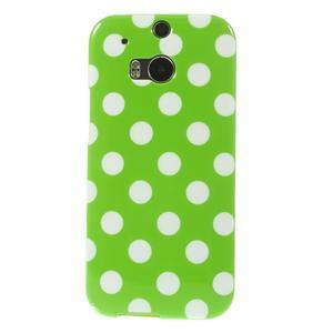 Gelové-PUNTÍKY pouzdro pro HTC one M8- zelené - 2