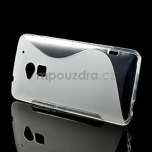 Gelové S-line pouzdro pro HTC one Max-transparentní - 2