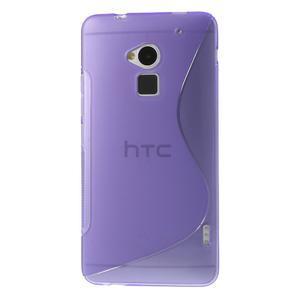 Gelové S-line pouzdro na HTC One Max- fialové - 2