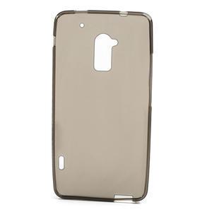Gelové matné pouzdro pro HTC one Max- šedá - 2
